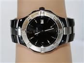 Croton Black Two Tone Swiss Sapphire Crystal Diamond Watch CR307930
